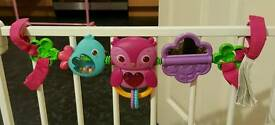 Selection of pushchair toys