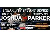 KING TV TOP QUALITY #NO1 TV SERVICE IN UK £45 A YEAR