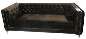 Fabric Tufted back Sofa with crystals (AC13)