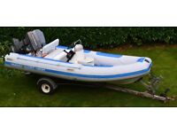 Quicksilver 450R Inflatable Rib, 50cc Yamaha & Trailer