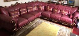 Beautiful Handmade Real Leather Italian Sofa