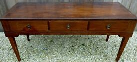 Antique 3 Drawer Sideboard originally a square piano
