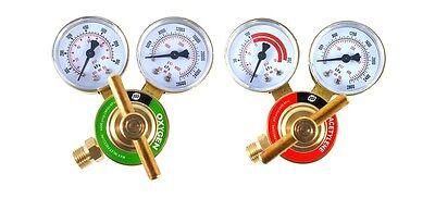 Sa - Oxygen And Acetylene Regulators Welding Gas Gauges - Rear Entry - Ldb