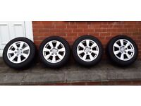 """16"""" genuine Audi wheels with tyres x4 and Audi centre badges"""