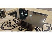 Rectangular Black Glass Coffee Table