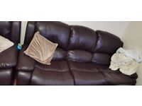 3 seater leather recliner sofas set of 3