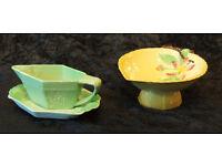 Carltonware bowl and a cream jug and dish