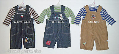 DISNEY BABY – OVERALLS - SHIRT - BOYS SET - INFANTS - CHARACTERS & SIZES – NWT