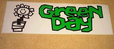 GREEN DAY punk vinyl bumpersticker skateboard sticker no Trump no fascist usa!