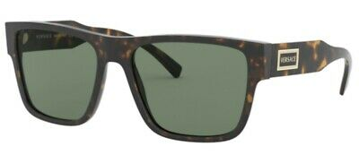 Versace VE4379 108/71 56mm Sunglasses Havana / Green Lens [56-17-140]
