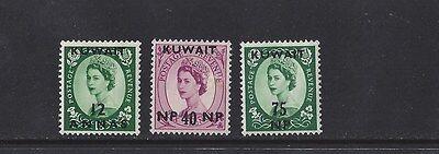 KUWAIT #133; 137; 139  MLH  - 1957 - 58
