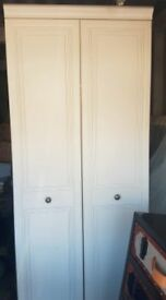 2 X Alston Double Wardrobes (white) plus FREE matching HEADBOARD for double bed