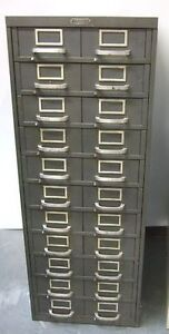 WANTED: Vintage filing cabinet with small metal drawers