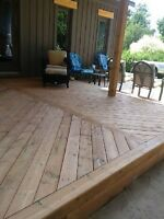 Decks and Patios Installed with Ground Screws