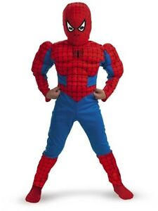 Kids' Spiderman Muscle Costume - Size: Child S(4-6)