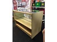 SHOP COUNTER SECOND HAND MAPLE GLASS USED
