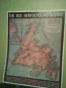1899 MAP OF THE REID NEWFOUNDLAND RAILWAY.