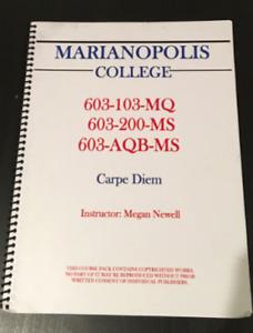 Marianopolis College: Carpe Diem Coursepack + Notes + ***