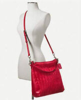 Authentic Coach Madison Gathered 2-Way purse - Raspberry $498