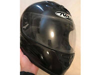 Black nitro medium motorbike helmet