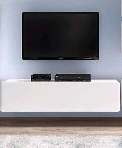 TV Unit - 1 Hatch - Wall or Floor Mountable - Possi Light Malaga Swan Area Preview