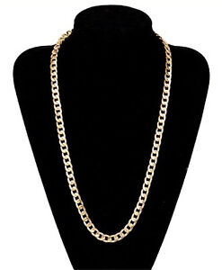 18k Gold Filled Stainless Steel Curb Cuban Link Chain Men's Necklace East Cannington Canning Area Preview