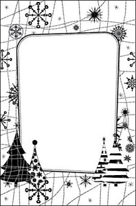 Crafts-Too A2 SNOW TREE embossing folder - $9