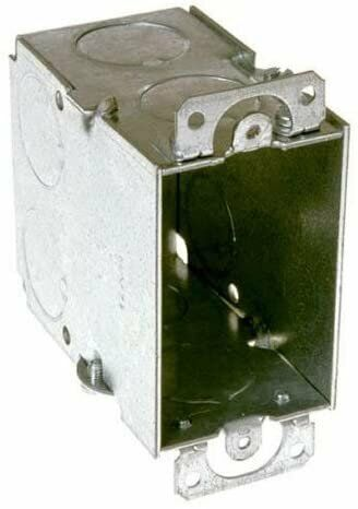 "Raco 8590 3"" X 2"" Switch Box, 3-1/2"" Deep, Gangable, 1/2"" End Knockouts,..."