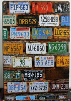 8 x 12 inch License Plate Tin Wall Sign