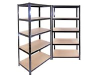2 x High Quality Black Heavy Duty Steel Racking Units