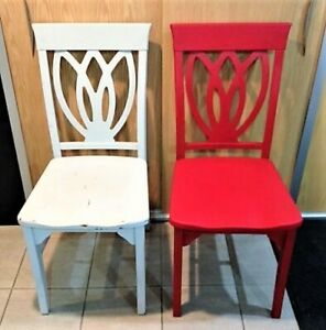 PIER 1 SOLID WOOD CHAIRS (2)