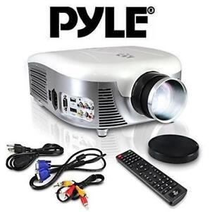 "REFURB PYLE LED PROJECTOR PRJD907 142698142 140"" VIEWING SCREEN BUILT IN SPEAKERS USB READER"
