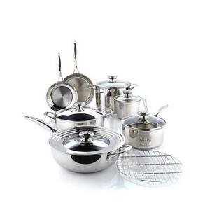 Wolfgang Puck Bistro Elite 13-piece Stainless Steel Cookware Set