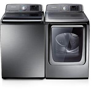 1 yr old high end XXL capacity washer and dryer! Samsung