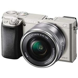 Sony ILCE6000B 24.3MP SLR Camera with 3.0-Inch LCD and 16-50mm