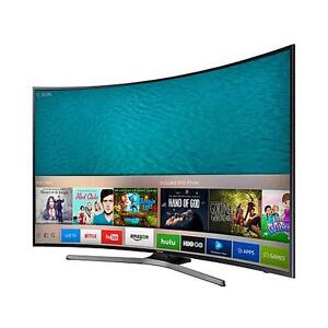 """55"""" samsung 4k curved smart tv. With warranty"""