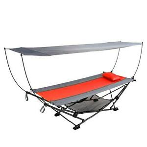Portable Hammock with Stand and top canopy