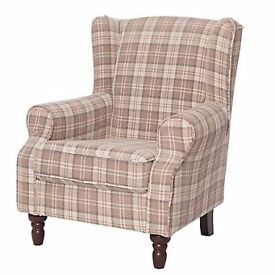 New Freemans Shetland Tartan Checked Sofa Chair Armchair RRP £540