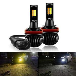 Led dual color H11 fog light bulb