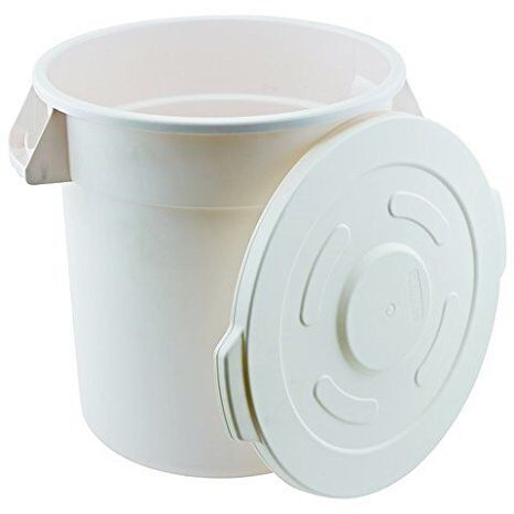 Winco FCW-20, 20-Gallon Polypropylene Container with Lid