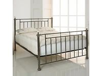 Bentley Metal Bed frame in Black Nickel- available in size Double 4ft6, Kingsize 5ft