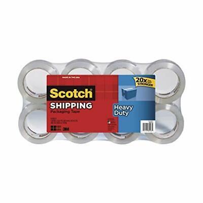 8 Rolls Scotch 3m Heavy Duty Shipping Packaging Tape 1.88in X 54.6yd