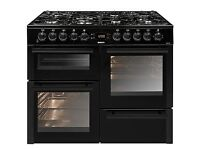 Beko 100 cm Black Double Oven Dual Fuel Range Cooker KDVF100K