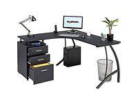 Piranha Regal Corner Computer Desk with 3 Drawers - Used 1 year