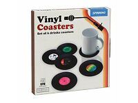 Vinyl Records Coaster Set