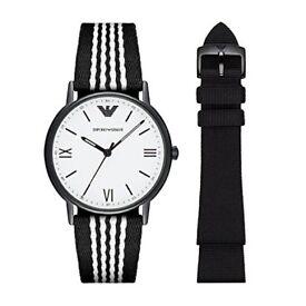 Emporio Armani watch gift set- 2 straps-wristwatch, gift, BNWT, guarantee