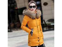 Parka Coat Women Winter Ladies Hooded Jacket Slim Padded Long Warm Outwear