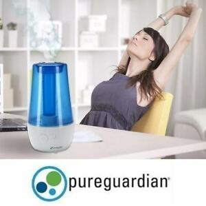 NEW 1 GAL ULTRASONIC HUMIDIFIER H965CA 236289464 70 HOUR COOL MIST TABLE TOP PURE GUARDIAN GERM GUARDIAN