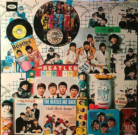 The BEATLES Collectors Items BANNER HUGE 4X4 Ft Tapestry Flag Poster album