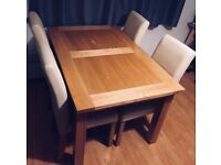 DFS Extending dining table and 4 chairs in great state. Has to go this weekend!